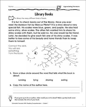 Library Books (Appreciating Literature)   Printable Skills