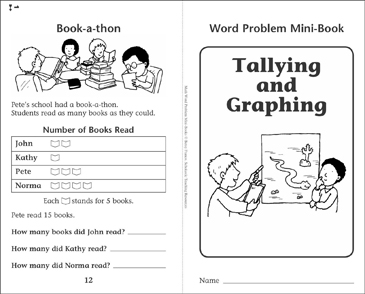 Tallying and Graphing: Word Problems - Printable Worksheet