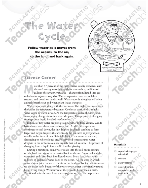 The water cycle interactive science wheel printable lesson plans see inside image ccuart Choice Image