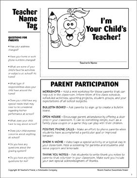 parent teacher essentials teacher name tag printable forms and