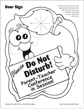 graphic regarding Do Not Disturb Sign Printable called Dad or mum-Trainer Fundamentals: Do Not Disturb Indicator Printable