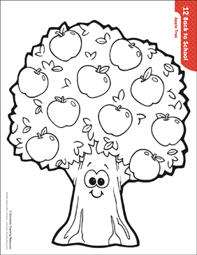 graphic relating to Tree Pattern Printable known as Apple Tree (Behavior Things to do) Printable Lesson Systems