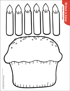 picture about Printable Candles identify Cupcake Candles (Models Pursuits) Printable Lesson