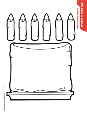 graphic relating to Printable Candles called Birthday Cake Candles (Behavior Routines) Printable