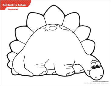 Stegosaurus (Pattern & Activities) - Printable Worksheet