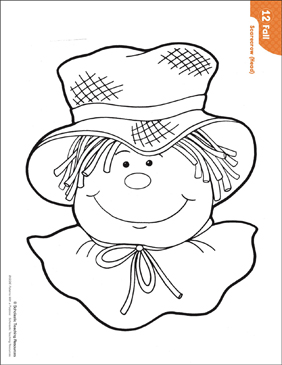 photograph regarding Scarecrow Template Printable named Scarecrow - Mind (Routine Actions) Printable Lesson