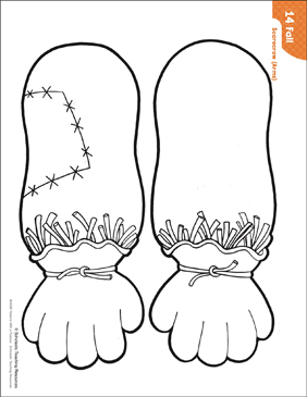 image about Scarecrow Printable named Scarecrow - Hands (Practice Functions) Printable Lesson