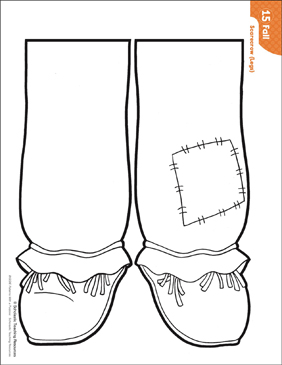 graphic about Scarecrow Pattern Printable called Scarecrow - Legs (Habit Things to do) Printable Lesson