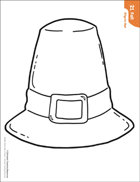 Pilgrim Hat (Pattern & Activities) | Printable Lesson ...