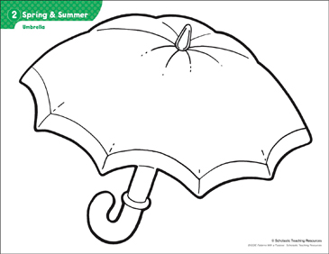 graphic relating to Umbrella Pattern Printable titled Umbrella (Practice Pursuits) Printable Lesson Strategies and