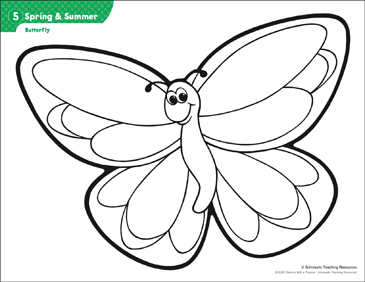 Butterfly (Pattern & Activities) - Printable Worksheet