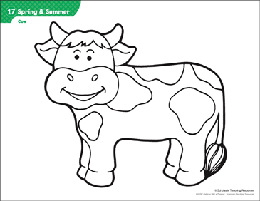 photo regarding Printable Cow Pattern identified as Cow (Habit Functions) Printable Lesson Systems and Guidelines