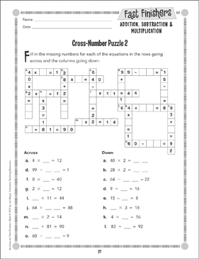 photo regarding Printable Number Fill in Puzzles known as Cross-Range Puzzle (Put together Functions) Printable Amount