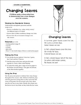 Changing Leaves: Early Learning Activity - Printable Worksheet