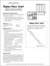 Happy New Year! Early Learning Activity - Printable Worksheet