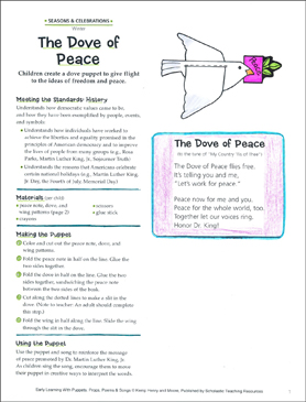 The Dove of Peace: Early Learning Activity - Printable Worksheet