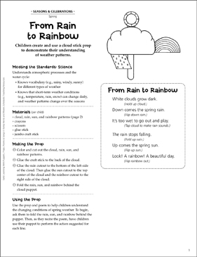 From Rain to Rainbow: Early Learning Activity - Printable Worksheet