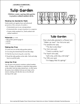 Tulip Garden: Early Learning Activity - Printable Worksheet