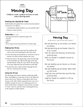 Moving Day (Patterns): Early Learning Activity - Printable Worksheet