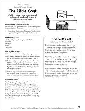 The Little Goat: Early Learning Activity - Printable Worksheet