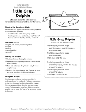 Little Gray Dolphin: Early Learning Activity - Printable Worksheet