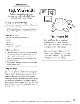 Tag, You're It!: Early Learning Activity - Printable Worksheet