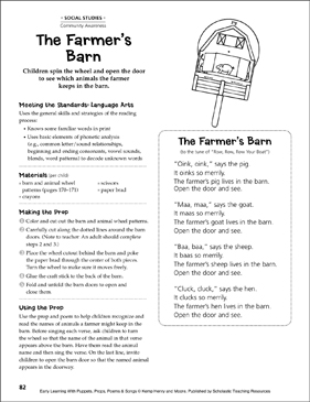 The Farmer's Barn: Early Learning Activity - Printable Worksheet
