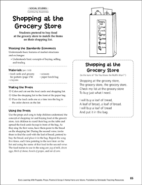 Shopping at the Grocery Store: Early Learning - Printable Worksheet
