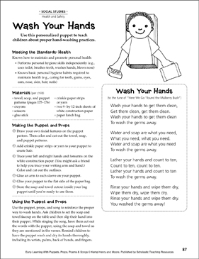 Wash Your Hands: Early Learning Activity - Printable Worksheet