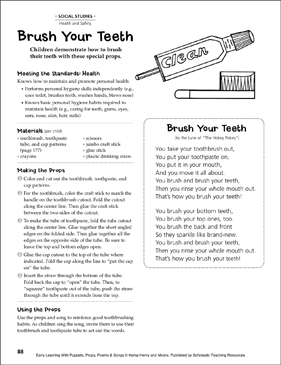 Brush Your Teeth: Early Learning Activity - Printable Worksheet