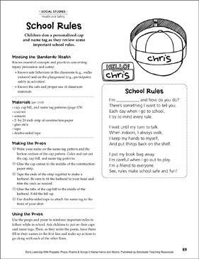 School Rules: Early Learning Activity - Printable Worksheet
