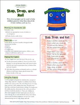 Stop, Drop, and Roll: Early Learning Activity - Printable Worksheet