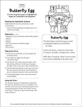 Butterfly Egg: Early Learning Activity - Printable Worksheet