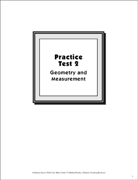 Math Skills Practice Test 2: Grade 5 (Geometry & Measurement) - Printable Worksheet