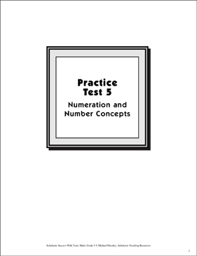 Practice Test 5: Grade 5 (Numeration & Number Concepts) - Printable Worksheet