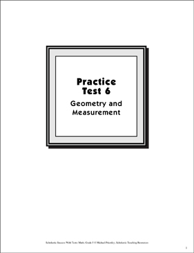 Math Skills Practice Test 6: Grade 5 (Geometry & Measurement) - Printable Worksheet