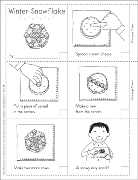 Winter Snowflake: Follow-the-Directions No-Cook Snack - Printable Worksheet