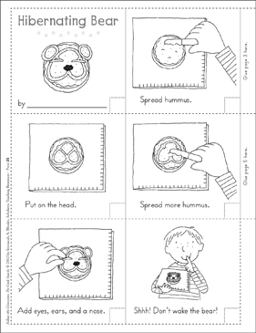 Hibernating Bear (Winter): Follow-the-Directions No-Cook Snack - Printable Worksheet