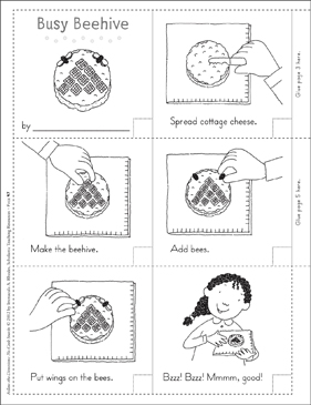 Busy Beehive (Summer): Follow-the-Directions No-Cook Snack - Printable Worksheet