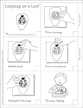 Ladybug on a Leaf (Summer): Follow-the-Directions No-Cook Snack - Printable Worksheet
