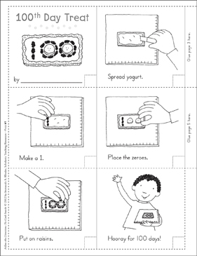 100th Day Treat: Follow-the-Directions No-Cook Snack - Printable Worksheet
