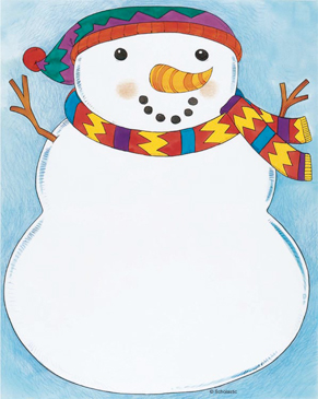 Bundled Up Snowman - Image Clip Art