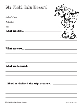 This is a picture of Intrepid Field Trip Worksheet