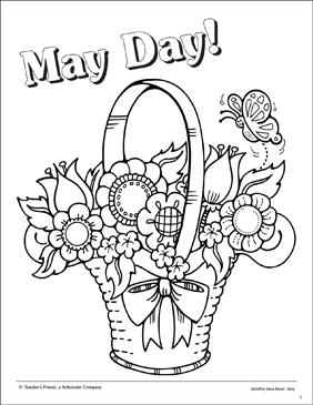 May Day Coloring Page Printable Coloring Pages
