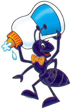 Ant with Glue - Image Clip Art