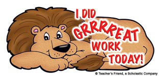 I Did Grrrreat Work Today! - Image Clip Art