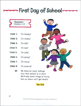 First Day of School: Back-to-School Mini-Play - Printable Worksheet