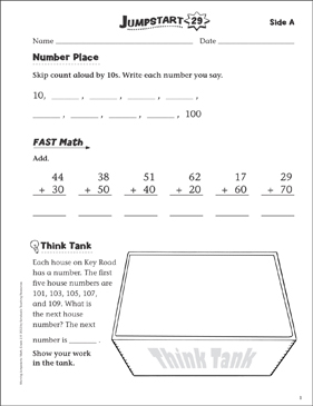 Independent Practice: Grade 1 Math Jumpstart 29 - Printable Worksheet