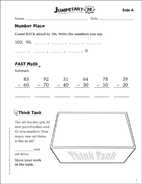 Independent Practice: Grade 1 Math Jumpstart 30 - Printable Worksheet