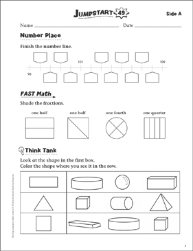 Independent Practice: Grade 1 Math Jumpstart 49 - Printable Worksheet